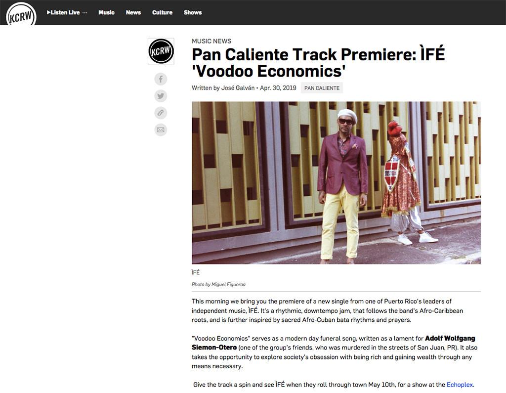 Screenshot_2019-10-25 Pan Caliente Track Premiere ÌFÉ 'Voodoo Economics WEB